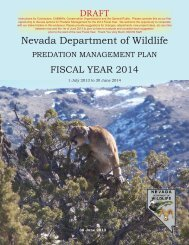 fy 2014 proposed projects - Nevada Department of Wildlife