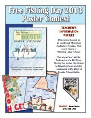 Free Fishing Day 2013 Poster Contest - Nevada Department of Wildlife