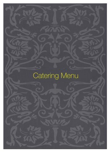 Catering Menu - Sette Bello