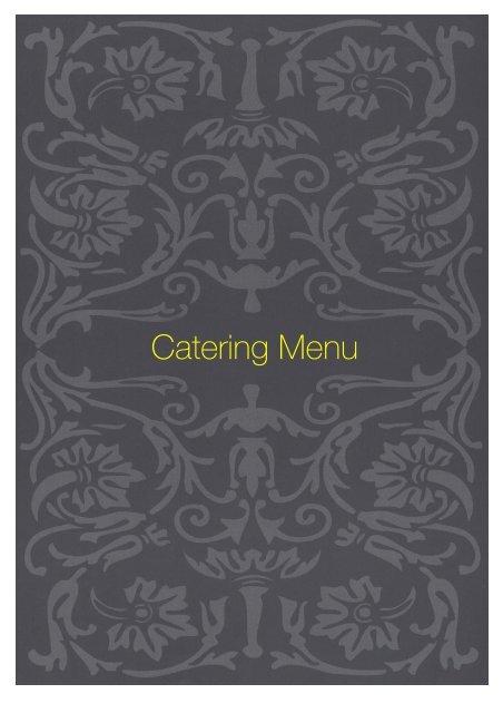 Catering Menu - Sette Bello