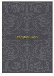 Breakfast Menu - Sette Bello