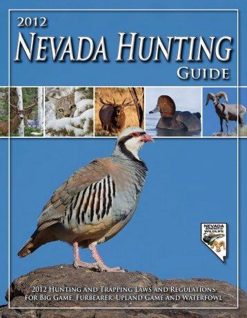2012 Nevada Hunting Guide - Nevada Department of Wildlife