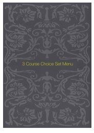 3 Course Choice Set Menu - Sette Bello