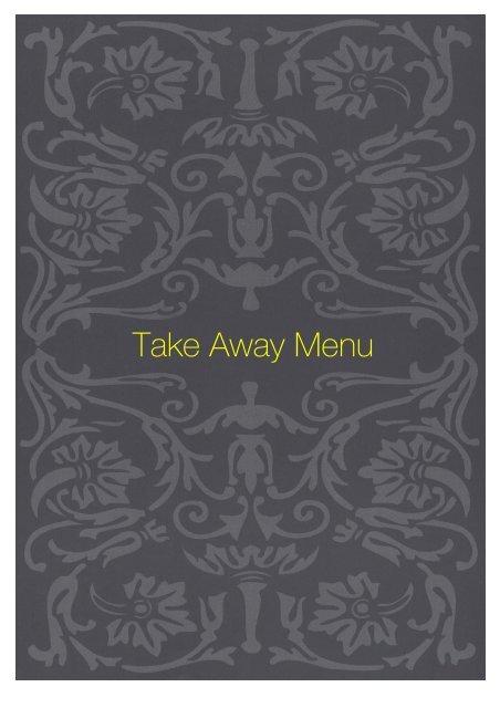 Take Away Menu - Sette Bello