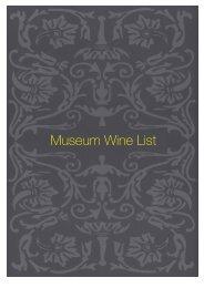 Museum Wine List - Sette Bello