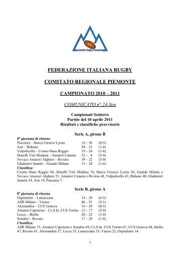 federazione italiana rugby comitato regionale piemonte