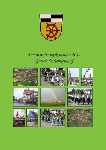 Veranstaltungskalender 2011 Gemeinde Seukendorf