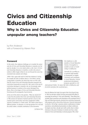 Why is Civics and Citizenship Education unpopular among teachers?