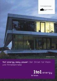 1to1 energy easy power: Der Strom für Klein- und ... - Sevelen