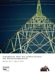 Information über die Elektrizitäts- und Netznutzungstarife - Sevelen