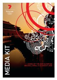 GameS OF tHe XXiX OLYmPiad BeiJiNG, CHiNa, 8 - Seven West ...
