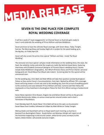 seven is the one place for complete royal wedding coverage