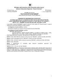 Contratto integrativo di Istituto - IIS Severi-Correnti