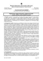 Regolamento viaggi di istruzione - IIS Severi-Correnti