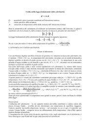 Verifica della legge fondamentale della calorimetria Q = c m Δt Q ...