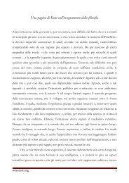 Kant - Insegnamento della filosofia - IIS Severi-Correnti