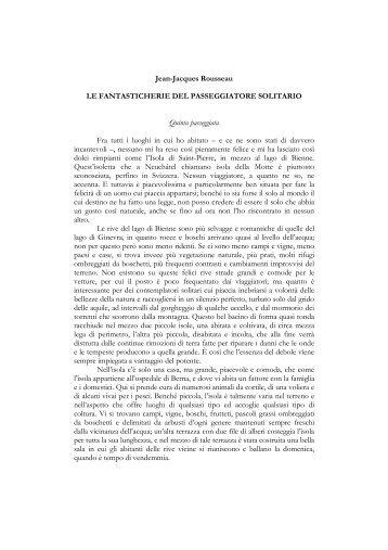 Jean-Jacques Rousseau LE FANTASTICHERIE DEL ...