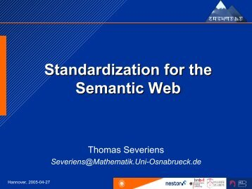 Semantic Web - Thomas Severiens