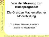 Von der Messung zur Klimaprognose - Thomas Severiens