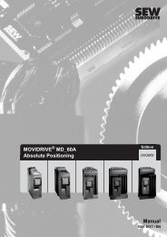 Manual MOVIDRIVE MD_60A - Absolute positioning - SEW Eurodrive