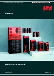 Catalog – MOVIDRIVE® MDX60B/61B - SEW Eurodrive
