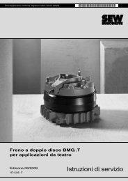 Freno a doppio disco BMG..T per applicazioni da ... - SEW Eurodrive