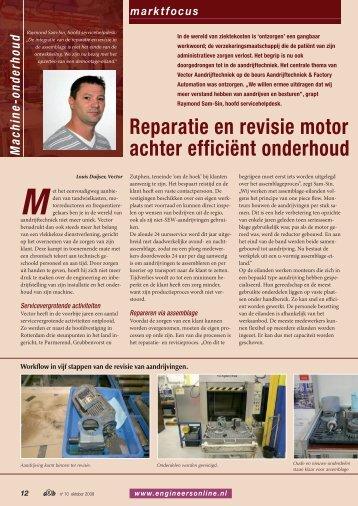 Reparatie en revisie motor achter efficiënt onderhoud - SEW Eurodrive