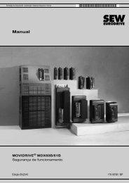 MOVIDRIVE® MDX60B/61B Segurança de ... - SEW Eurodrive
