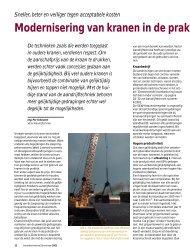 Modernisering van kranen in de praktijk - SEW Eurodrive