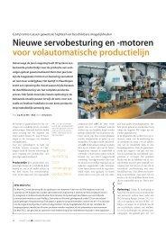 Nieuwe servobesturing en -motoren voor ... - SEW Eurodrive