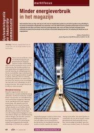 Minder energieverbruik in het magazijn - SEW Eurodrive