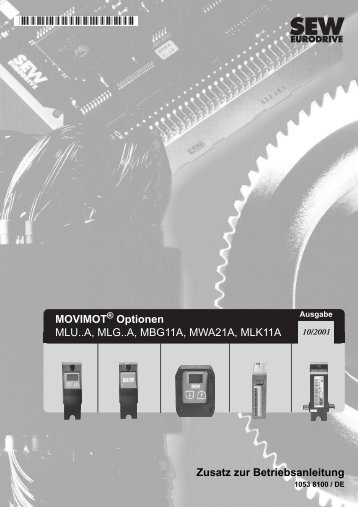 MOVIMOT Optionen MLU..A, MLG..A, MBG11A ... - SEW Eurodrive