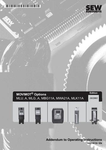 MOVIMOT Options MLU..A, MLG..A, MBG11A ... - SEW Eurodrive