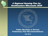 for Public Meetings - Fall 2012 - Southeastern Wisconsin Regional ...