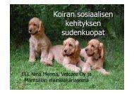 Koiran sosiaalisen kehityksen sudenkuopat (pdf) (5.6 MB)