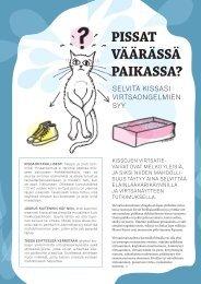 Kissojen virtsaongelmat – omistajan opas - Eläinsuojeluyhdistysten ...