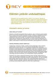 Eläinten ystävän undulaattiopas (pdf) (752.9 KB) - SEY Suomen ...