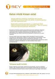 Katso mistä kissan ostat - SEY Suomen Eläinsuojeluyhdistysten liitto ry