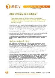 Mikä minulle lemmikiksi? - SEY Suomen Eläinsuojeluyhdistysten ...