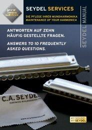 Service-Anleitung (pdf-Download) - C. A. Seydel Söhne