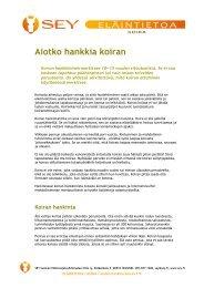 Aiotko hankkia koiran - SEY Suomen Eläinsuojeluyhdistysten liitto ry