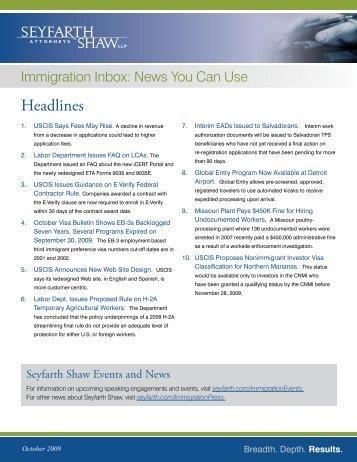 Headlines - Seyfarth Shaw LLP