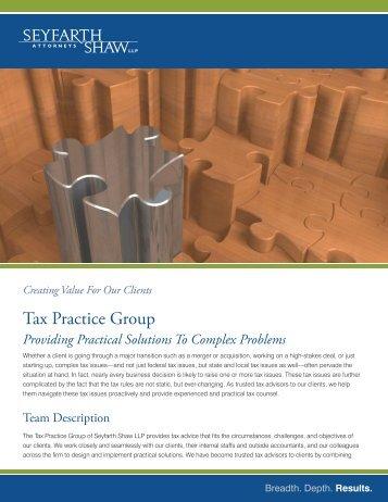 Master Brochure Doc3.indd - Seyfarth Shaw LLP