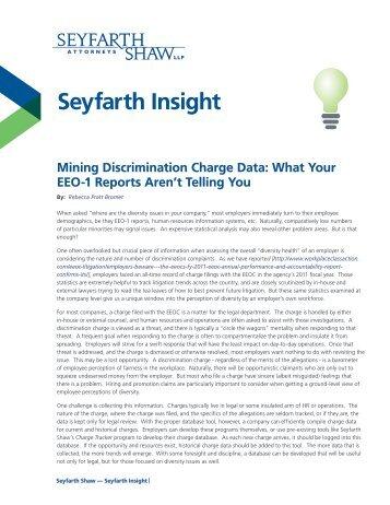 Seyfarth Insight - Seyfarth Shaw LLP