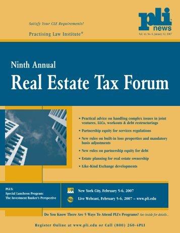Real Estate Tax Forum - Seyfarth Shaw LLP