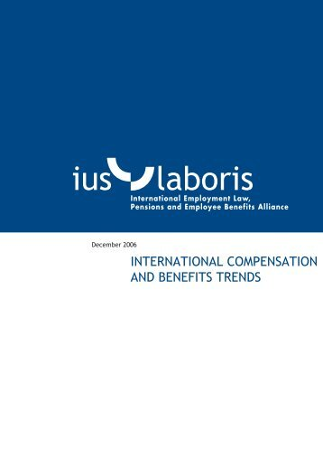international compensation and benefits trends - Seyfarth Shaw LLP