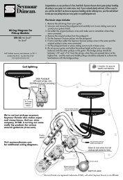 [DIAGRAM_5UK]  wiring instructions - Seymour Duncan | Wiring Diagram Seymour Duncan Ssl 5 |  | Yumpu