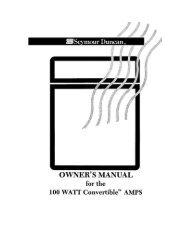 100 Watt Convertible™ Amp - Seymour Duncan