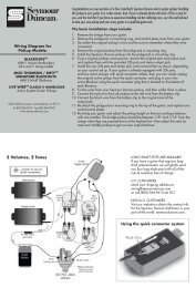 Wiring Instructions - Seymour Duncan