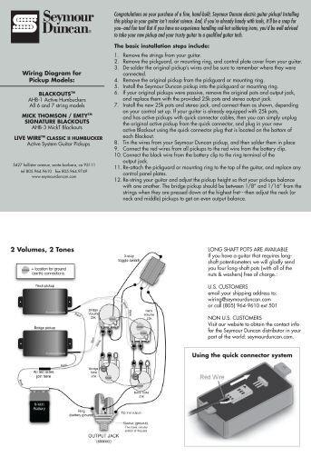 wiring seymour duncan